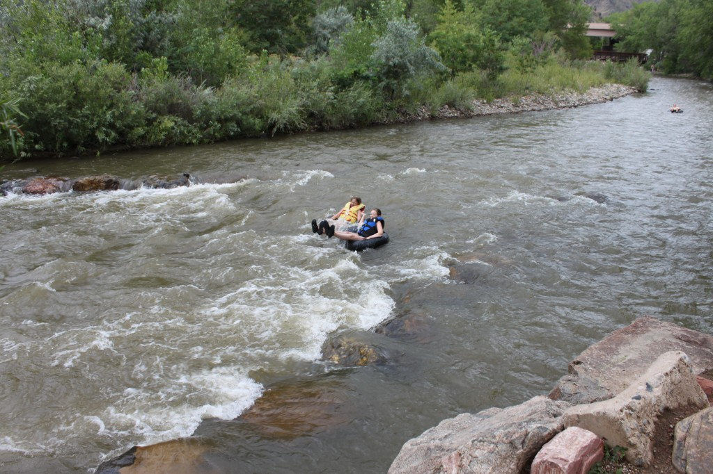 """Heading into their first """"rapids."""""""