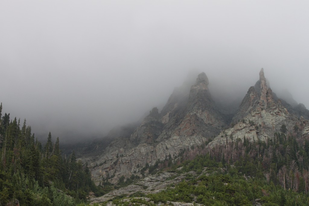 And on certain days, if you go to the top of the mountain, you can walk right through the clouds.