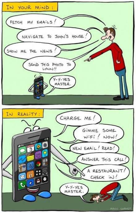 Slave To Your Smart Phone-Mobile Phone Addiction-Cell phone slaves-Technology slaves