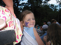 The Divine Miss M at Michigan Womyn's Music Festival, six years old