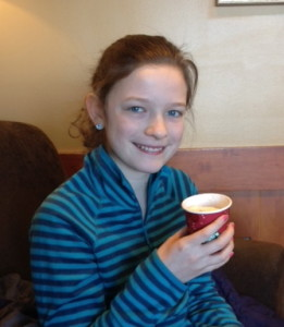 Turning 13 means a detour to Starbuck's on the way to school.