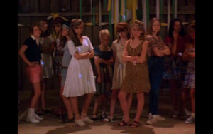Or maybe just looking angry like these girls (this is, coincidentally, how I remember middle school).